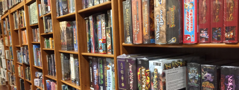 Game store shelves