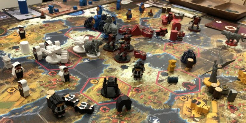 Our Scythe (サイズ - 大鎌戦役) board game ended at 3 AM