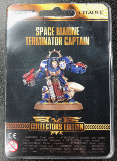 Collectors Edition Space Marine Terminator Captain