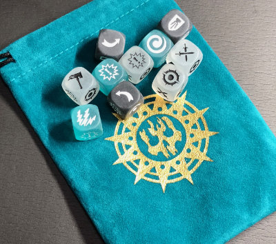 Bonus dice and dice bag