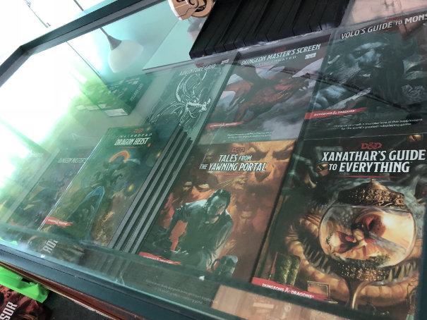 Behind the glass - D&D 5e books