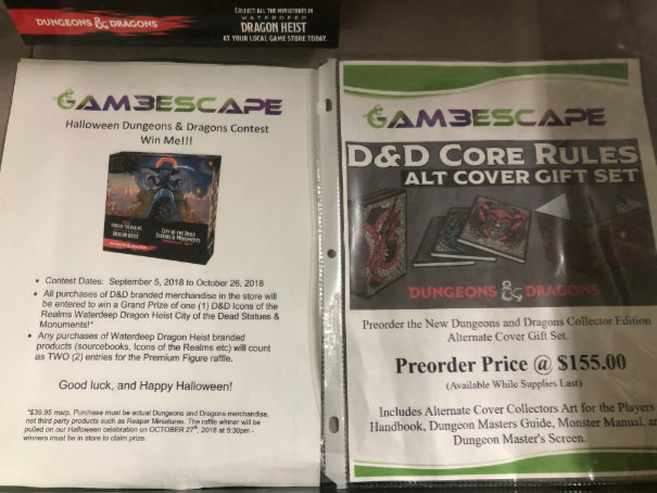 D&D contest info and alt cover gift set preorder