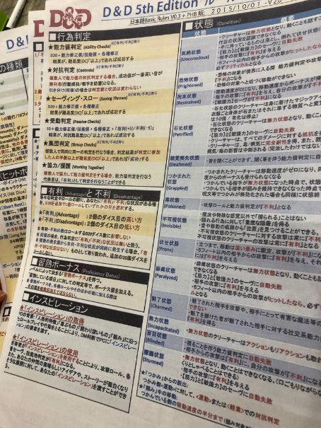 5e Japanese Reference Guide