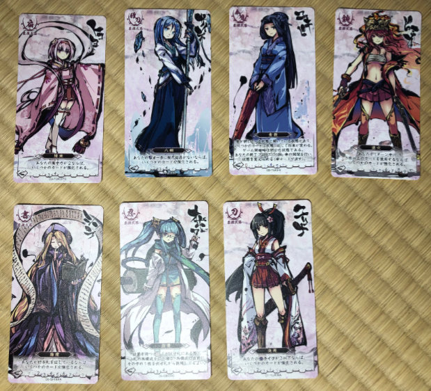 The Megami tarot-sized cards