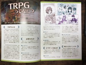"""Photo of """"What is a TRPG?"""" Section"""
